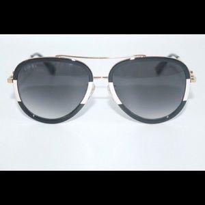Authentic Gucci Black/White Aviator Sunglasses